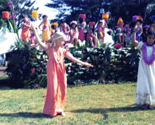 Jennifer performs in the May Day festival at her school in Molokai'i. (Chapter 7 - 1970s)